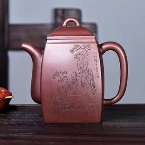 极品美壶,仅此一把 大汉方  仙人饮鹤图,丁酉国峰铭