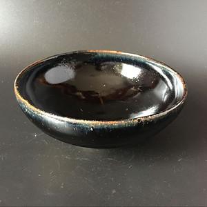 极美品耀州窑窑变釉黑釉碗