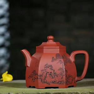 极品美壶:君子坦荡 六方古亭  玫瑰