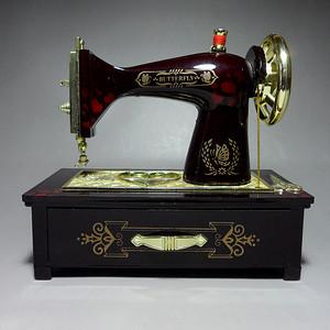 老缝纫机式音乐盒!