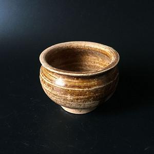 极美品吉州窑姜黄釉琴炉
