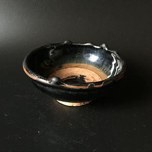 金元极美品黑釉墩式碗