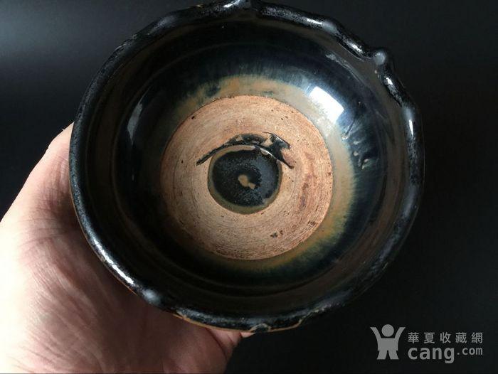 金元极美品黑釉墩式碗图2