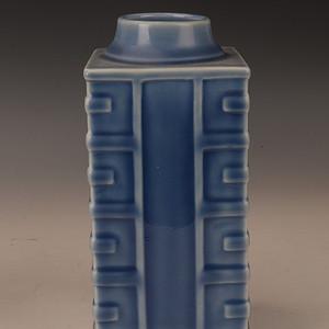 欧洲回季蓝四方八卦瓶