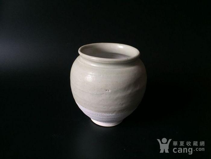 极美品青白釉翻唇茶叶罐图1