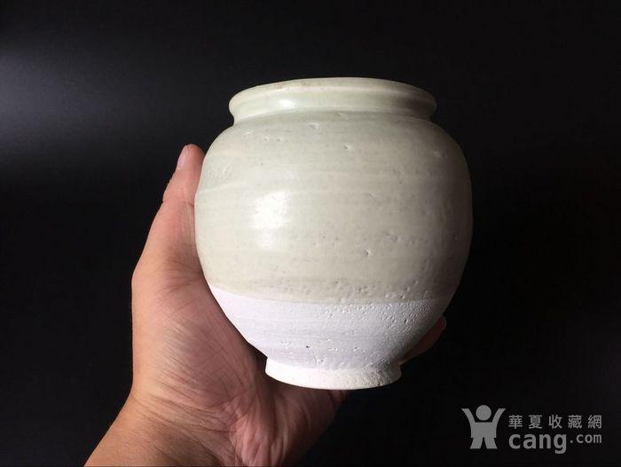 极美品青白釉翻唇茶叶罐图2