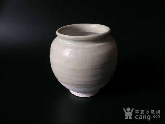 极美品青白釉翻唇茶叶罐图5