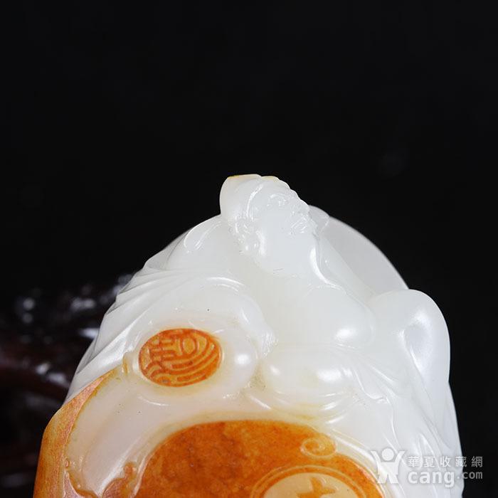苏工  和田玉 籽料把件 青莲居士真皮真籽料图4