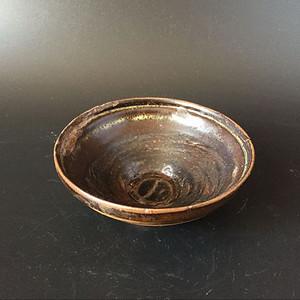 洞口窑褐釉斗笠盏