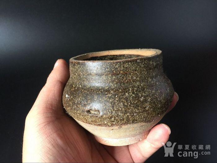吉州窑长颈褐釉香炉图2