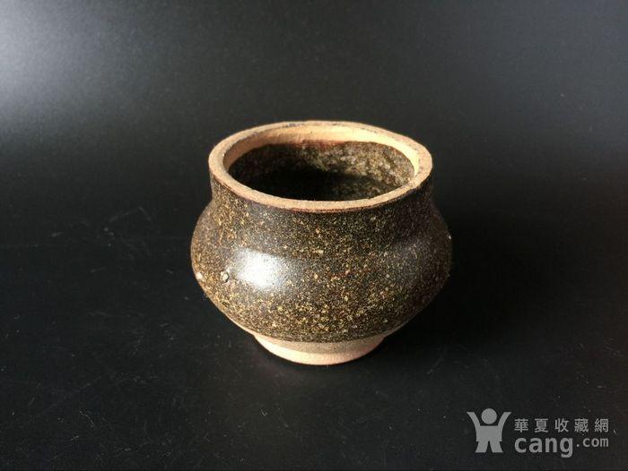 吉州窑长颈褐釉香炉图1