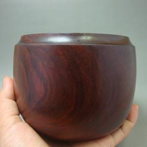 厚重的金星紫檀罐子一个