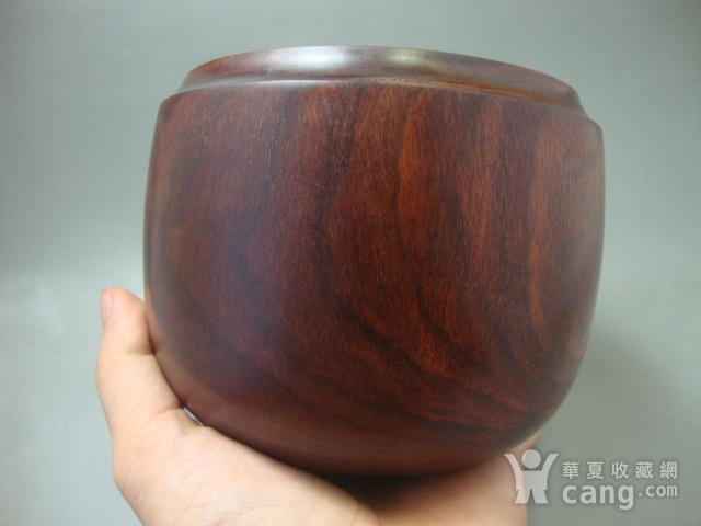 厚重的金星紫檀罐子一个图4
