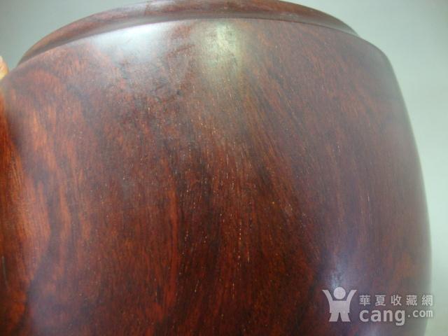 厚重的金星紫檀罐子一个图8