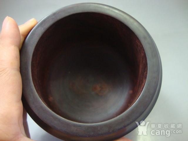 厚重的金星紫檀罐子一个图9