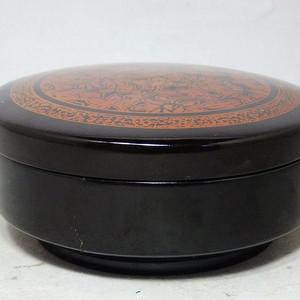 清代漆器描金绘画盖盒