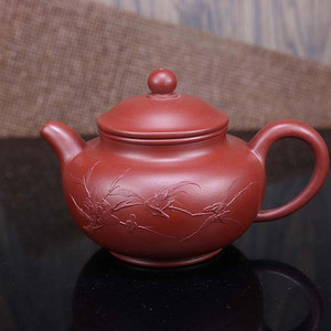 纯手工紫砂壶大红袍朱泥茶壶!