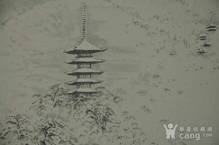 日本水墨画三幅
