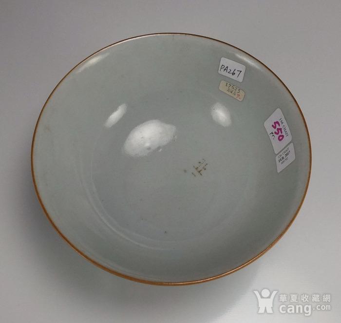 清代康熙 孔雀蓝花绘纹 大碗图6