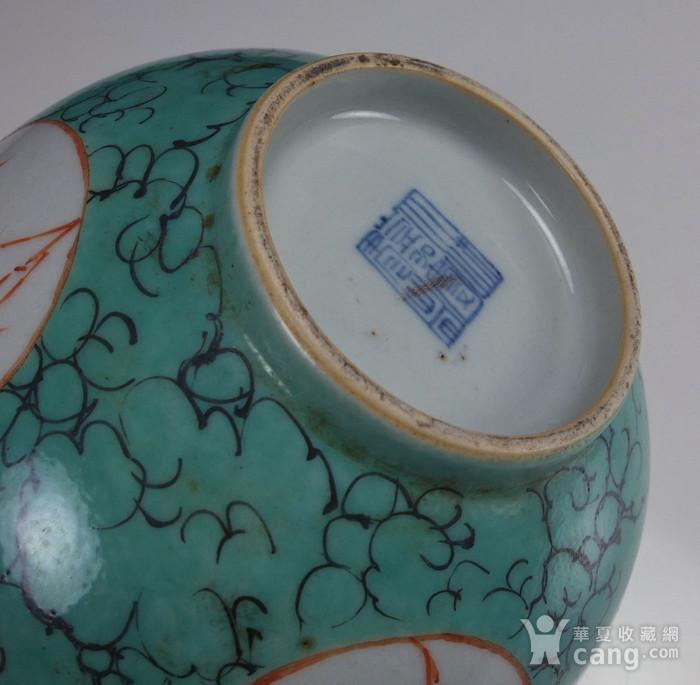 清代康熙 孔雀蓝花绘纹 大碗图8