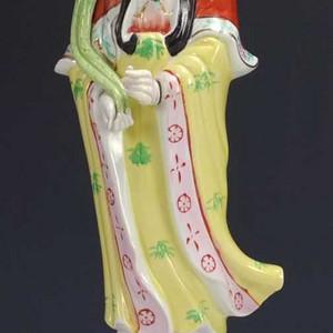 国外回流 粉彩 观音瓷塑像