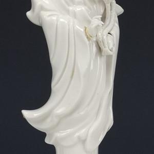 清代  德化窑白釉 菩萨 瓷塑像