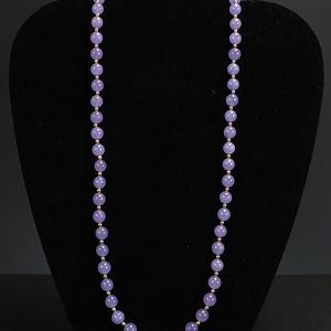 国外回流 天然紫色翡翠 项链