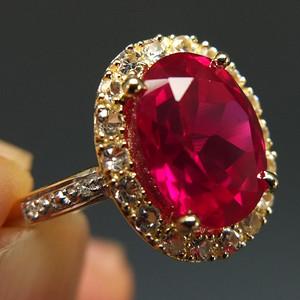 国外回流 3.6克拉加热红宝石  戒指