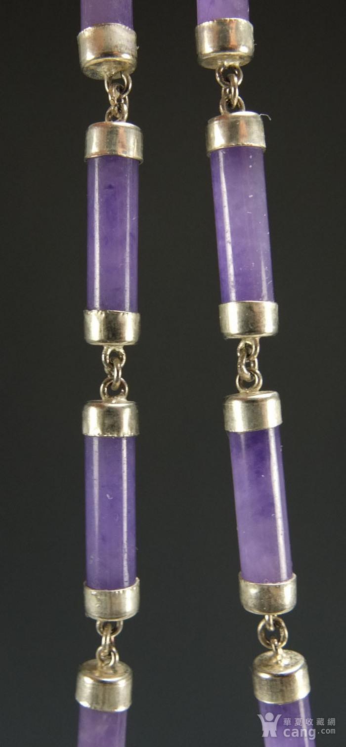 美国回流 925银镶嵌 天然紫色翡翠 手链图10
