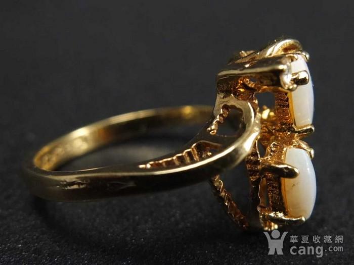 美国回流 鎏金天然欧泊宝石 戒指图3