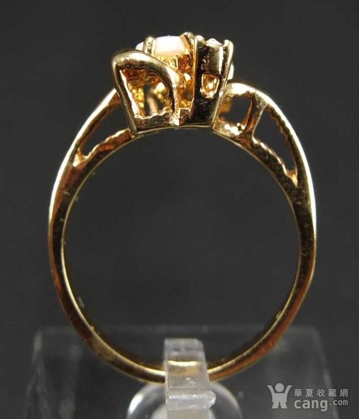美国回流 鎏金天然欧泊宝石 戒指图5