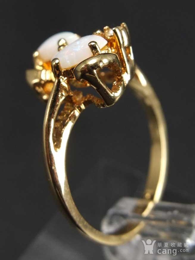 美国回流 鎏金天然欧泊宝石 戒指图6