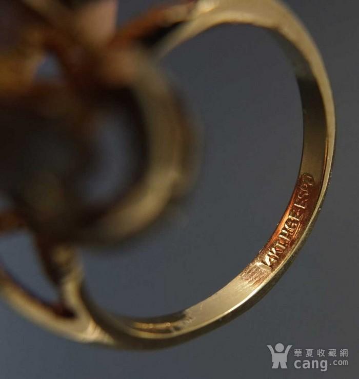 美国回流 鎏金天然欧泊宝石 戒指图7