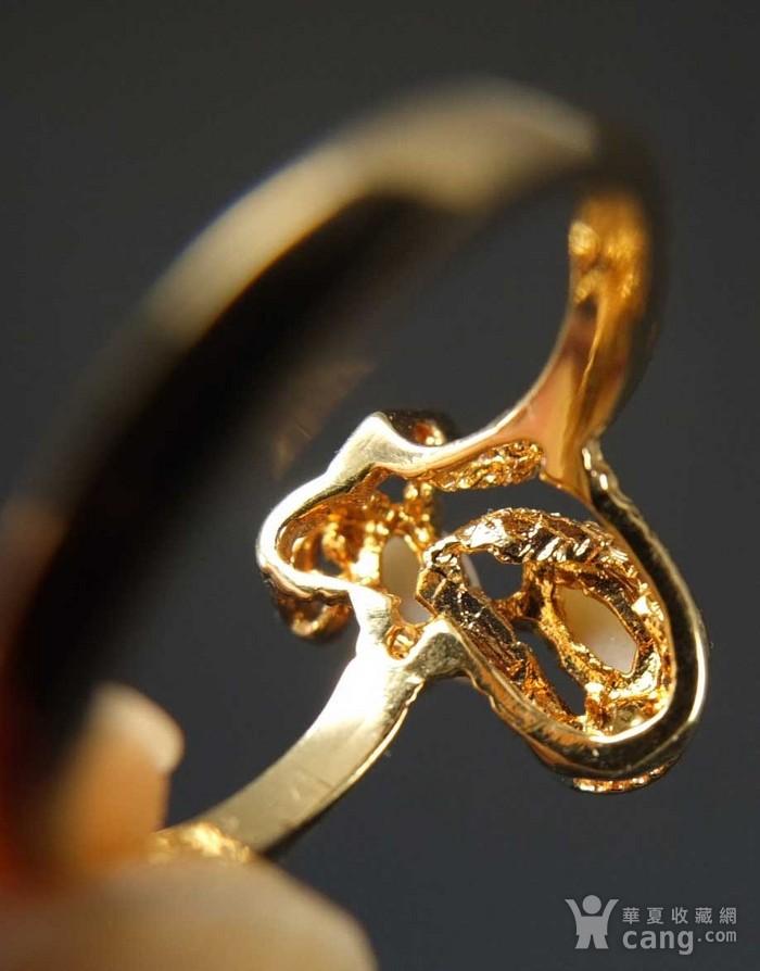美国回流 鎏金天然欧泊宝石 戒指图10