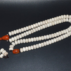 海南星月菩提配战国红玛瑙 绿松石108佛串