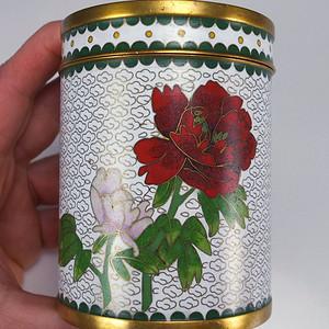 民国 铜胎掐丝珐琅 茶叶罐