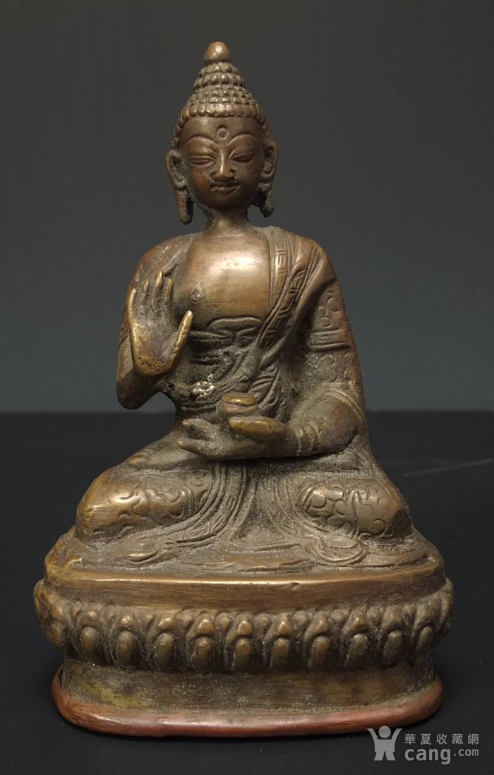 清代 藏传 释迦牟尼  坐佛像图1