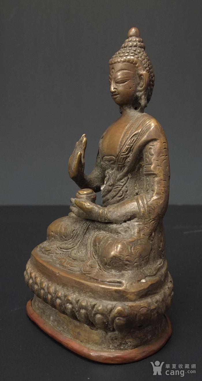 清代 藏传 释迦牟尼  坐佛像图2
