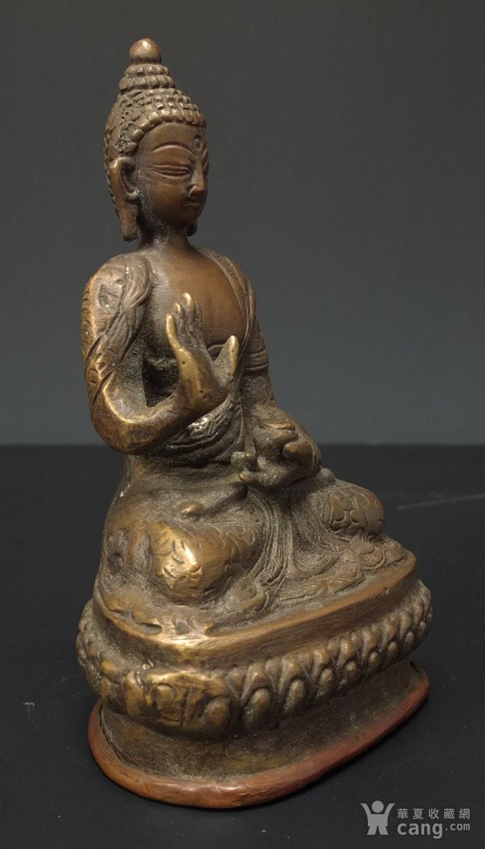 清代 藏传 释迦牟尼  坐佛像图3