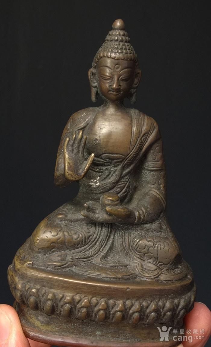 清代 藏传 释迦牟尼  坐佛像图5