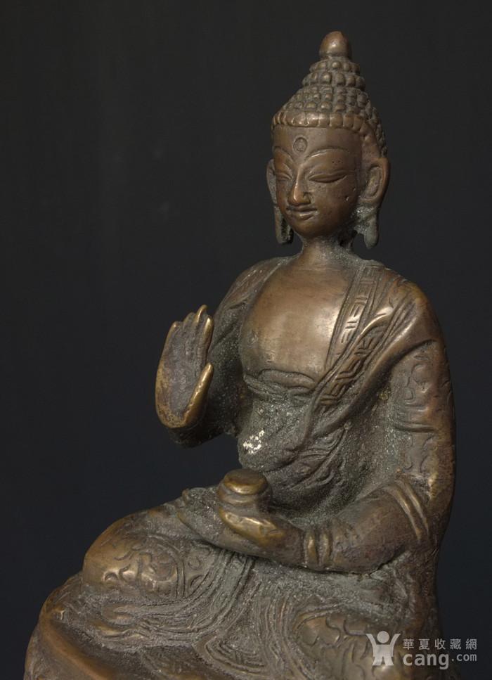 清代 藏传 释迦牟尼  坐佛像图6