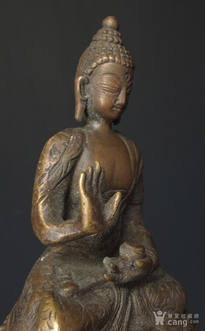 清代 藏传 释迦牟尼  坐佛像图7