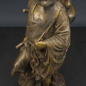 国外回流 二十世纪 超大 铜雕塑像高42厘米 2017 8 30 06