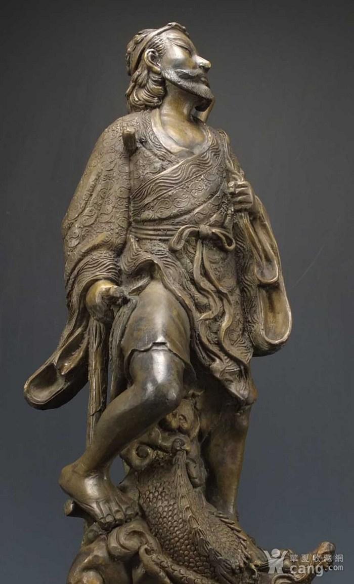 国外回流 二十世纪 超大 铜雕塑像高42厘米 2017 8 30 06图2