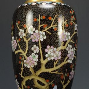 极品 铜胎掐丝珐琅 梅花纹橄榄大瓶