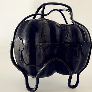 明清时期铜雕瓜形香炉27