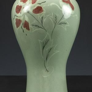 19世纪精品 清代 韩国高丽 瓷梅瓶