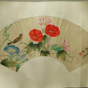 回流的民国时期的花卉