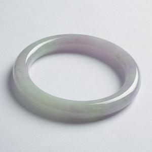 紫绿翡翠美人圆镯 57mm  20JB08