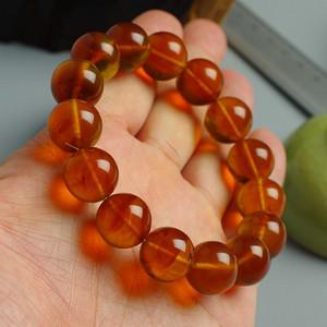 金棕缅甸琥珀手珠 5JE01